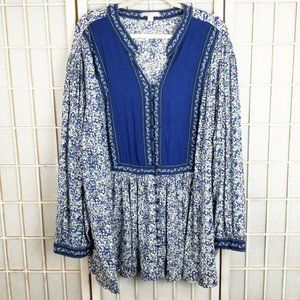 Women Within 5X Blouse Flowy Boho Floral Top 38/40
